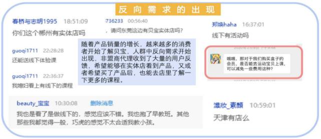 線上用戶開始產生線下體驗需求的截圖